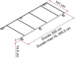 Afbeelding van BRACKET KIT FIAMMA ROOF RAIL 2 PCS